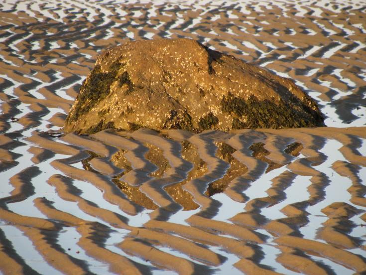 cape rock reflection