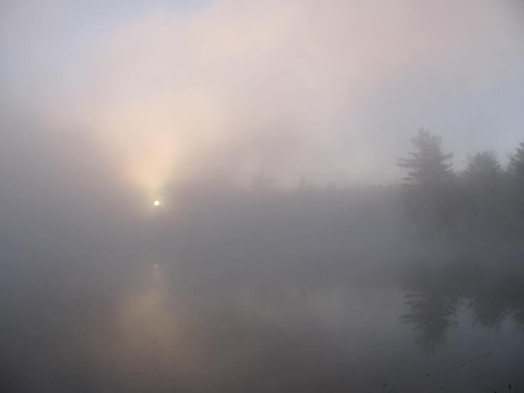 fog sunrise