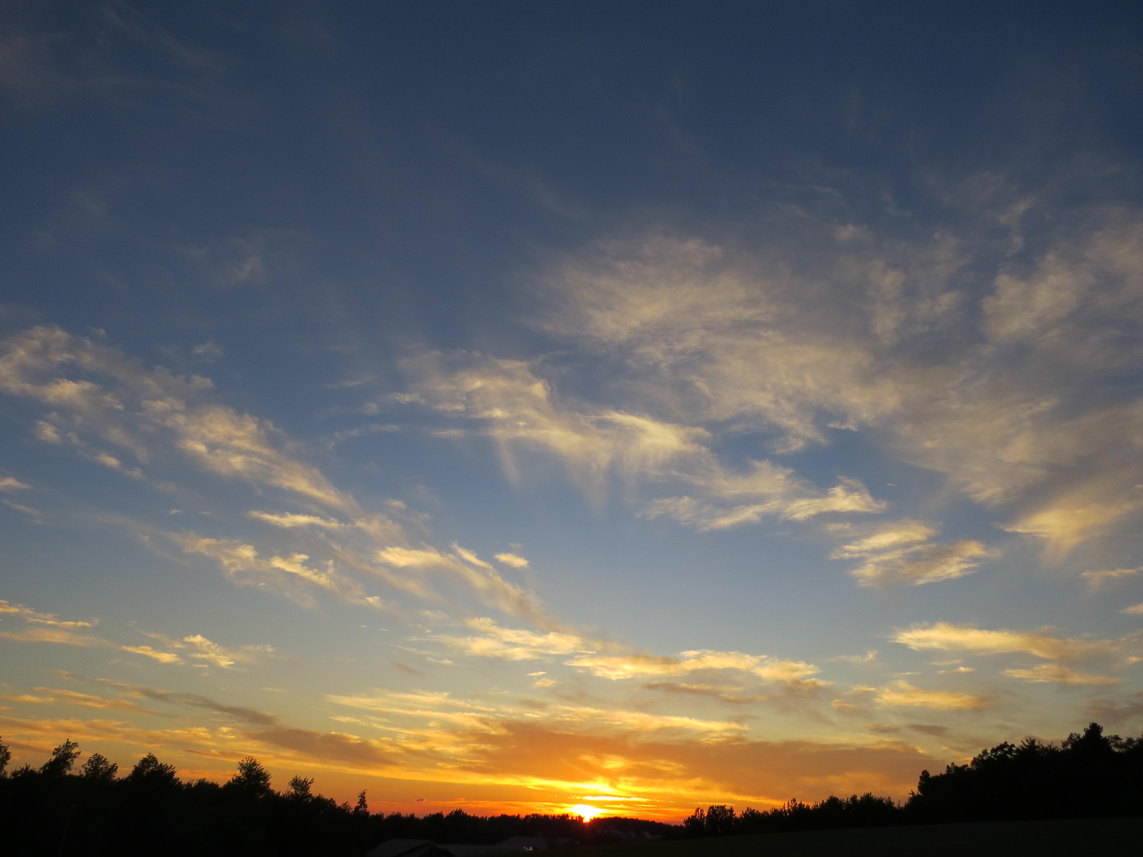 July sunset